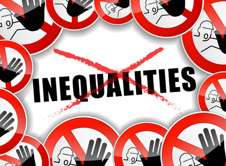 favoritism: illustration of no inequalities abstract concept background