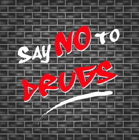 abstract illustration for say no to drugs