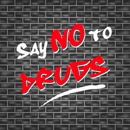 abstracte illustratie voor zeggen nee tegen drugs