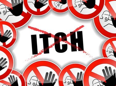 itch: illustration of abstract design concept for no itch