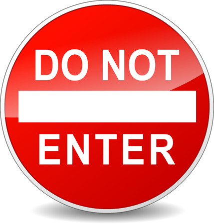 no entry sign: illustration of do not enter red circle sign