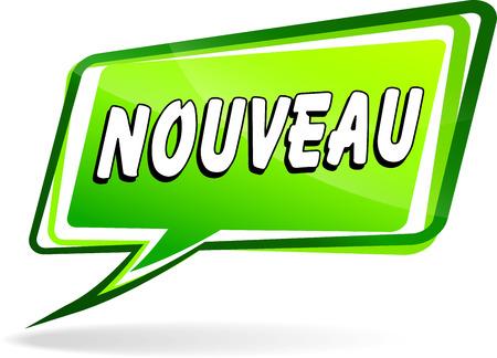 Französisch Übersetzung für neue grüne Sprach Design