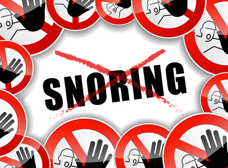 snoring: illustration of abstract design concept for no snoring