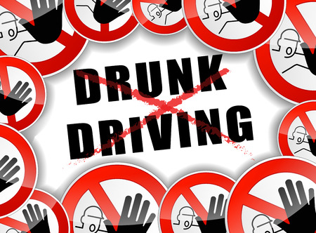 drunk driving: illustration of abstract design concept for no drunk driving