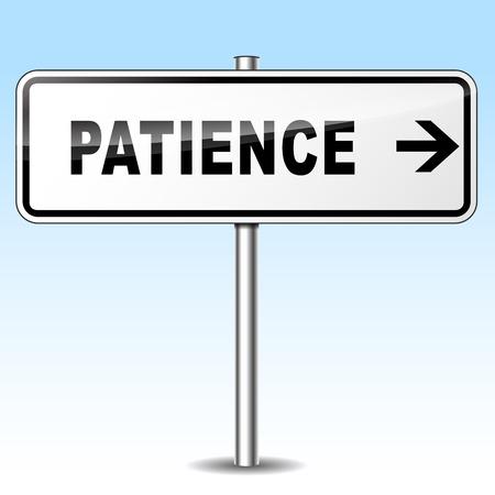 paciencia: ilustraci�n de signo de la paciencia en el fondo del cielo Vectores
