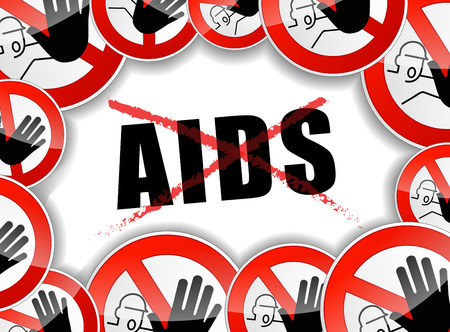 aids: illustration of stop aids design abstract concept Illustration