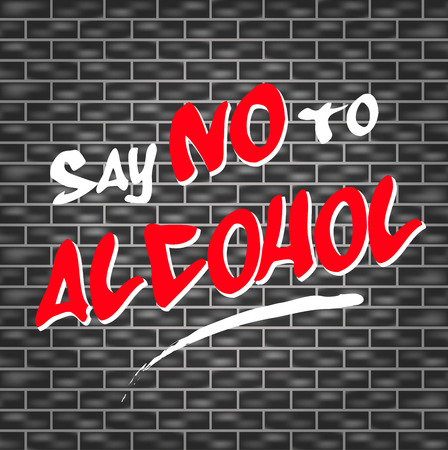 illustration of graffiti for say no to alcohol