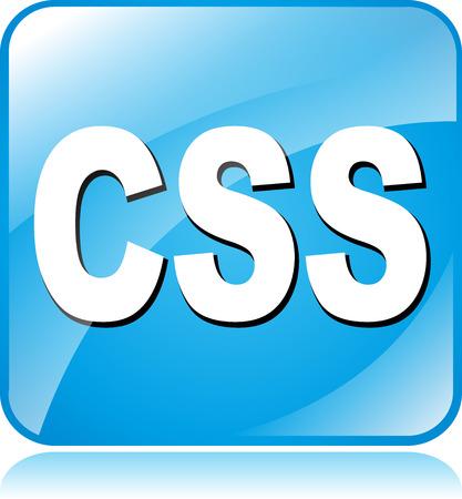 css: illustrazione di icona blu quadrato per css