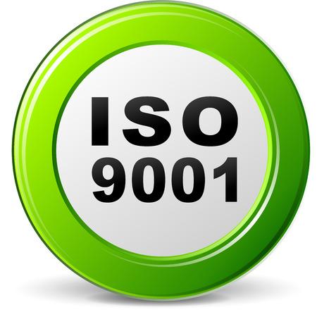 zertifizierung: Abbildung der ISO 9001 Zertifizierung gr�nes Symbol Illustration