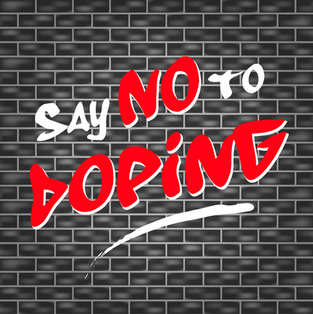 tagged: illustration of dark wall with graffiti for no doping