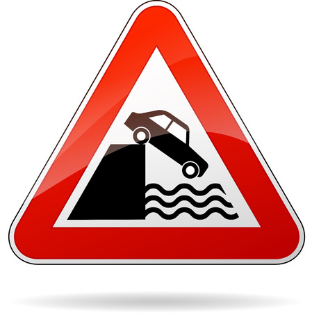 illustration of triangular isolated sign for water warning Vector