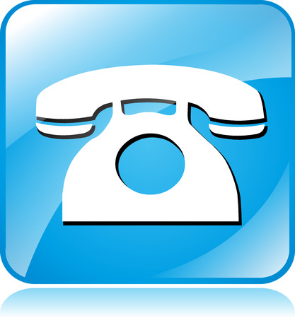 toll free: illustration of blue square icon for phone