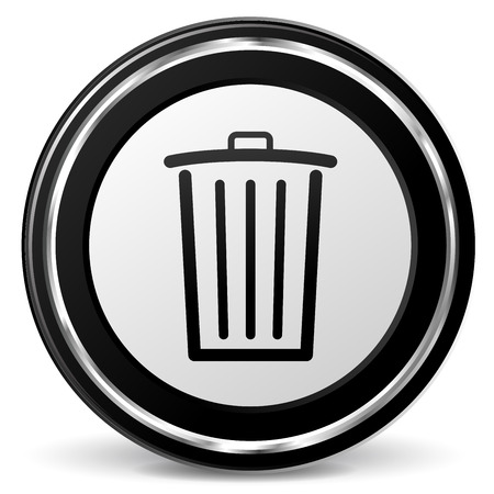 illustration of circle metal icon for delete Vector
