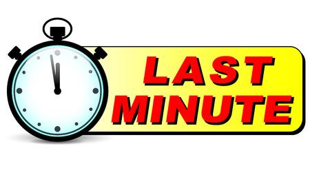 minute: illustration of last minute stopwatch design icon