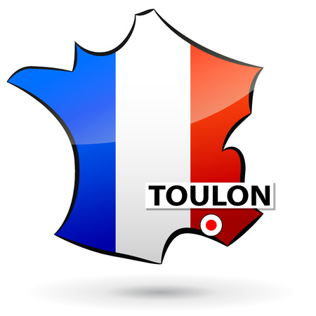 localization: illustration of french map icon for toulon Illustration