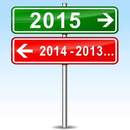 approvement: illustration of new year concept metal sign