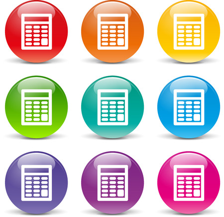 quotation: collection of icons of different colors for calculator