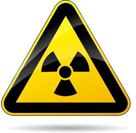 radiactividad: ilustraci�n de tri�ngulo amarillo para la radiactividad