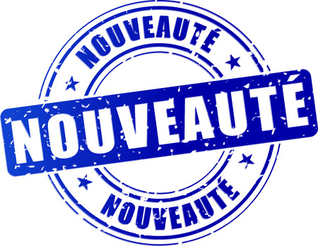 french translation of novelty blue design stamp