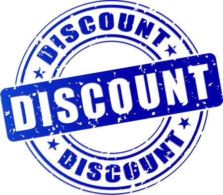 inkpad: illustration of discount blue stamp design icon Illustration