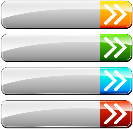 illustration of four colorful rectangular web buttons