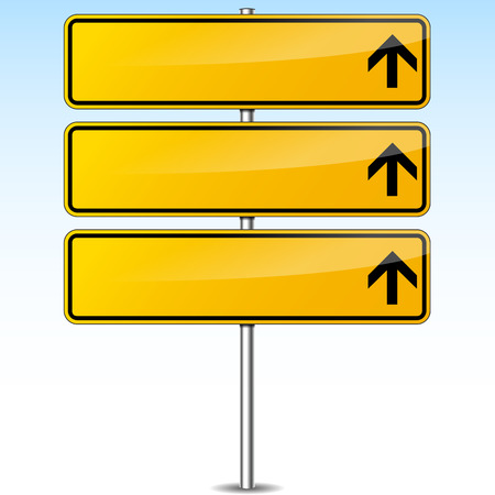 guide board: illustration of yellow blank road sign background