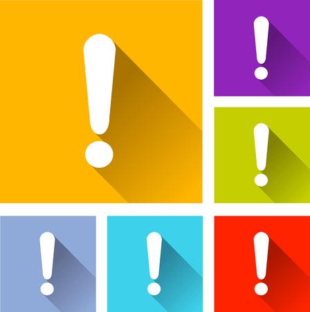 alerta: Ilustraci�n de iconos de dise�o conjunto planas para alerta Vectores