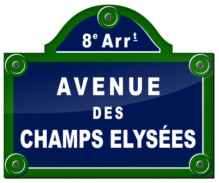 avenue: french sign of famous avenue in paris Illustration