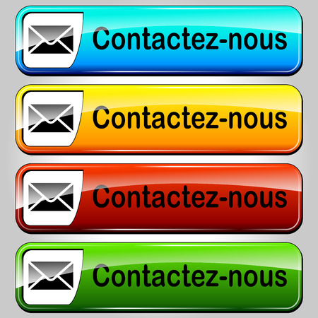 french translation for mail contact web butttons set