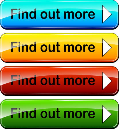 illustration of colorful web buttons for find out more Vettoriali