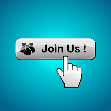 join us: illustration of join us web button concept