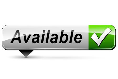 available: illustration of available rectangular icon on white background Illustration