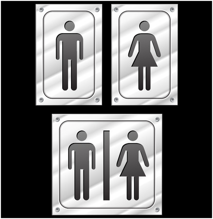 man and women wc sign: vector illustration of man and woman signs