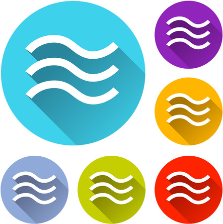 flood: vector illustration of six colorful flood icons Illustration
