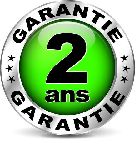 Illustrazione di icona di garanzia verde (traduzione francese) Archivio Fotografico - 37127756