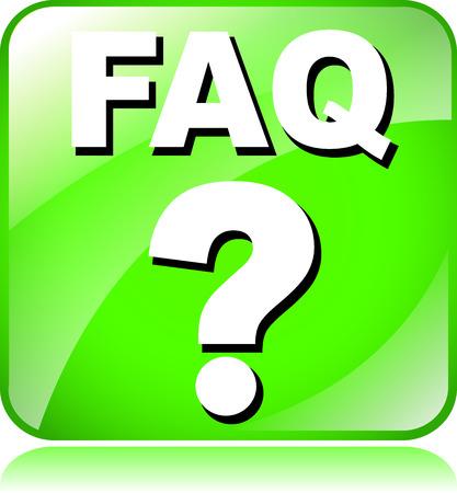 faq icon: ilustraci�n del icono faq verde sobre fondo blanco