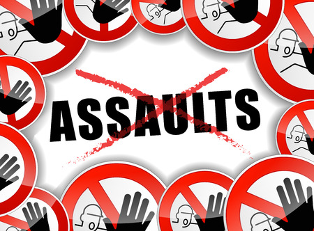 illustration of stop assaults problems abstract concept Vector