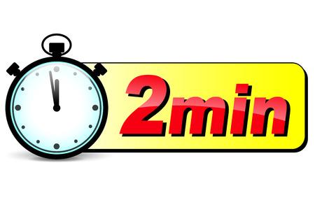 Illustratie van twee minuten stopwatch design icoon Stockfoto - 37612869