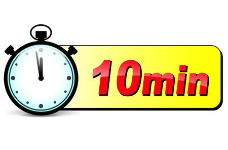 cronometro: ilustraci�n de diez minutos icono dise�o cron�metro