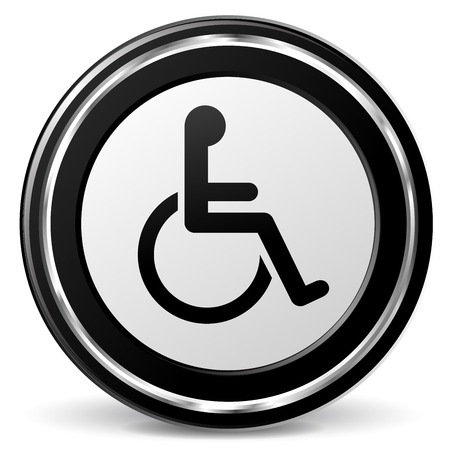 illustration of disabled icon with metal ring