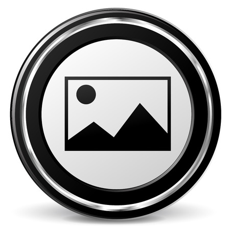 alu: illustration of pictures icon with metal ring