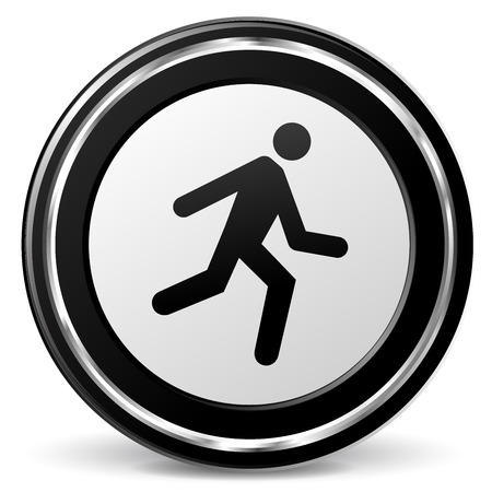 alu: illustration of run icon with metal ring