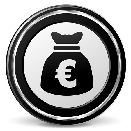 alu: illustration of euro bag icon with metal ring