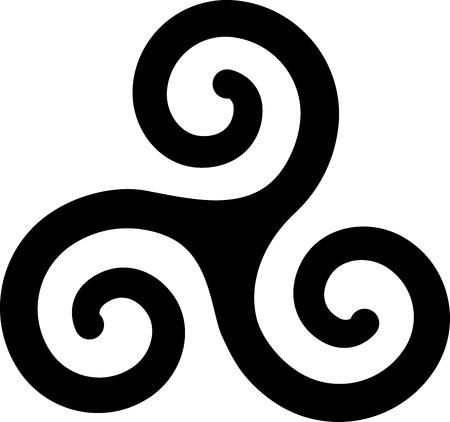 illustratie van Franse Bretagne spiralen art symbool