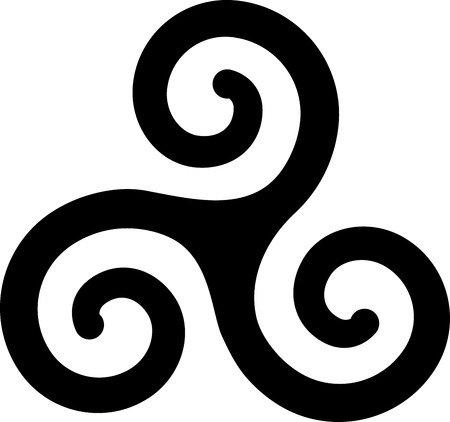 illustration of french brittany spirals art symbol 矢量图像