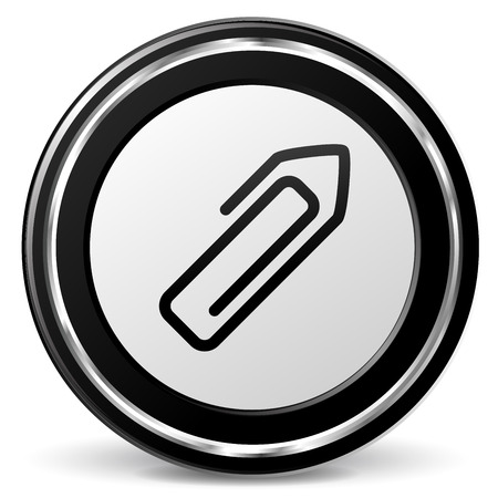 illustration of paper clip icon with metal ring