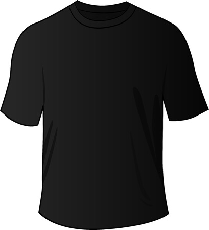 tee shirt: illustration of blank black front tee shirt Illustration