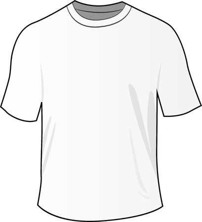 tee shirt: illustration of blank white front tee shirt
