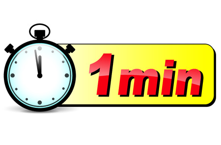 illustration of one minute stopwatch design icon Ilustração