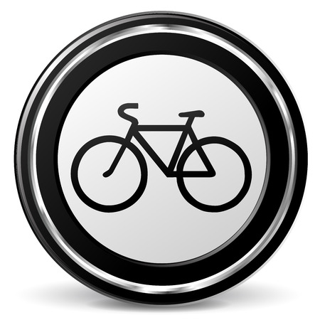 alu: illustration of bicycle icon with metal ring